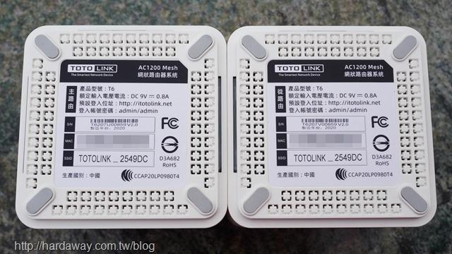 TOTOLINK T6 AC1200 Mesh網狀路由器