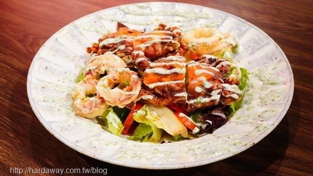 惠比壽燒鳥酒場酥炸軟殼蟹沙拉