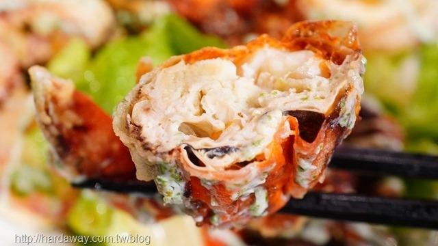 酥炸軟殼蟹沙拉