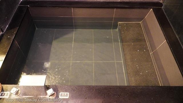 驛站溫泉會館房間泡湯池