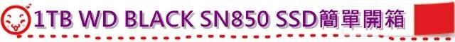 1TB WD BLACK SN850 SSD簡單開箱