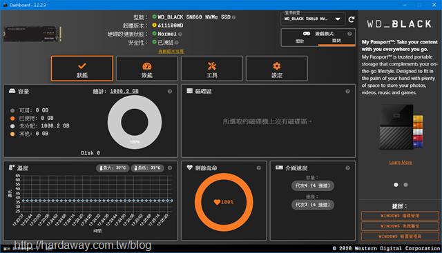 Western Digital SSD Dashboard