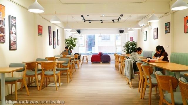 黑沃咖啡南崁中正店內部環境