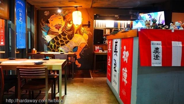 酌九壽司居酒屋店內環境