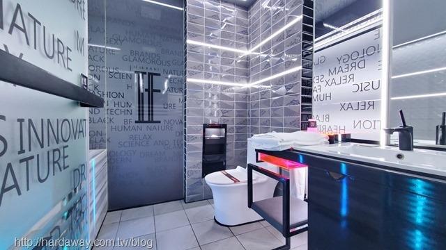 IF音樂商務旅館尊爵房型浴室