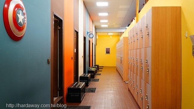 紐約健身太平館置物區