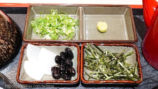鰻櫃套餐隨附小菜