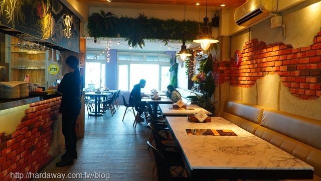 童話海景咖啡廳室內座位