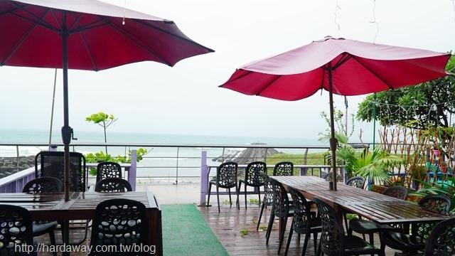 童話海景咖啡廳戶外座位