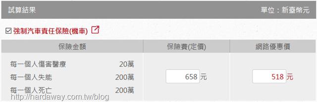 華南產物保險重型機車強制險