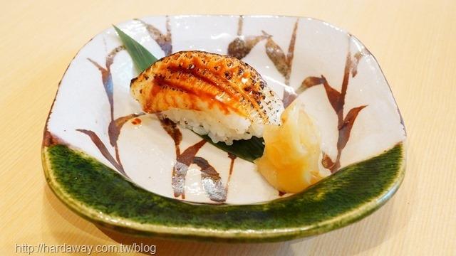 莞固和食比目魚鰭邊肉握壽司