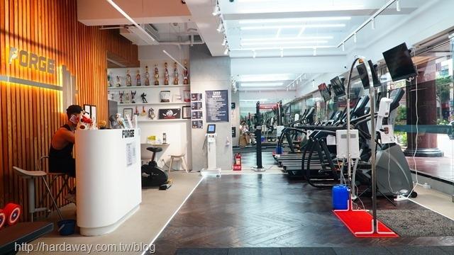 Forge打鐵健身雙十形象館內部空間