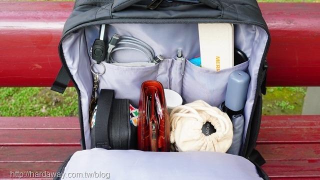 彈性收納空間背包