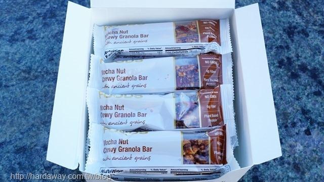 California Gold Nutrition摩卡堅果咀嚼格蘭諾拉麥片棒