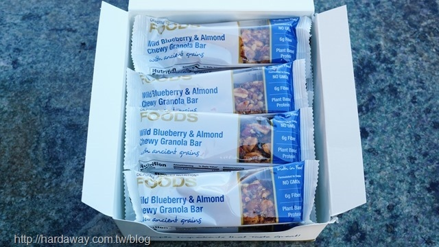 California Gold Nutrition野生藍莓及杏仁耐嚼格蘭諾拉麥片營養棒