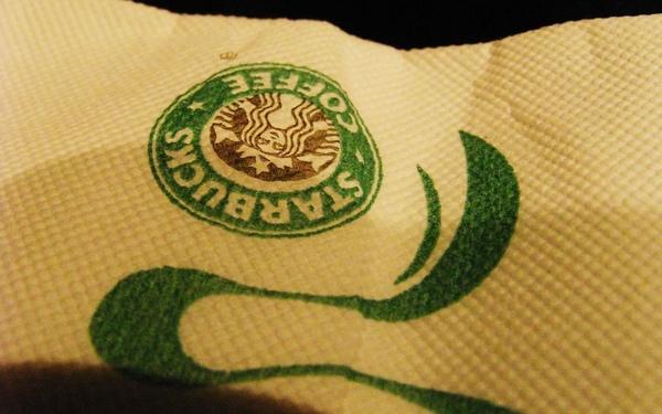 星巴克紙巾