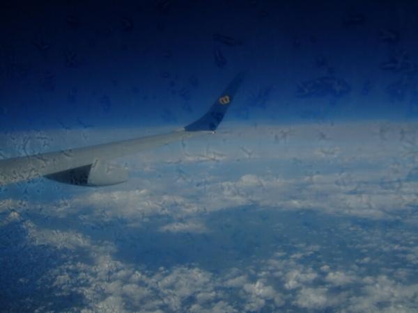 機翼受到雪花侵襲