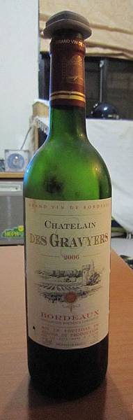 2012.8.10 法國波爾多‧葛薇兒古堡紅酒 (2006)
