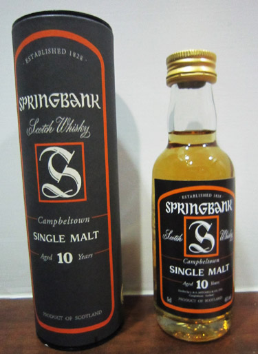 SPRINGBANR Single Malt Aged 10 Years 英國雲頂10年單一麥芽蘇格蘭威士忌