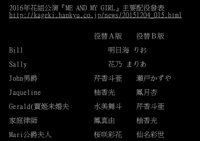 2016 花組『Me and My Girl』配役.PNG