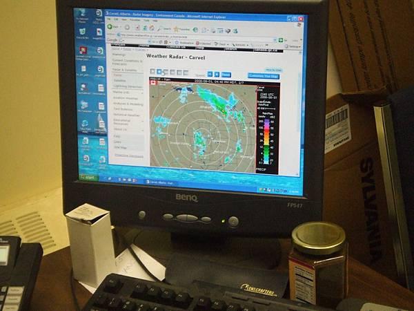 氣象雷達螢幕