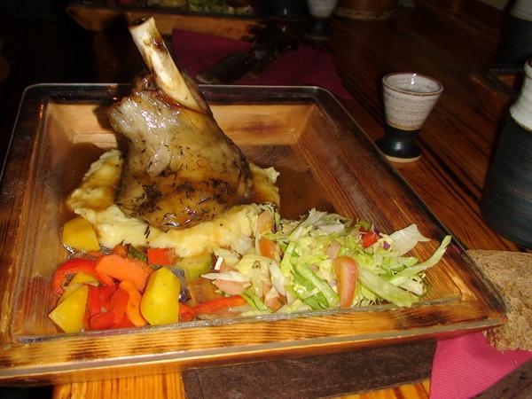 傳統風味的燻羊肉