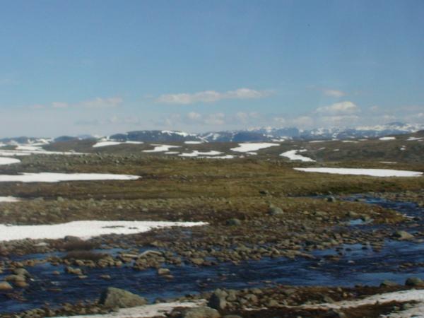挪威高山上冰原景象