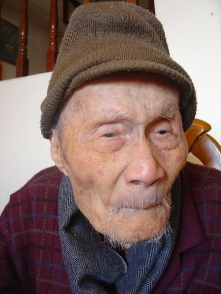 慈祥和煦的101歲人瑞