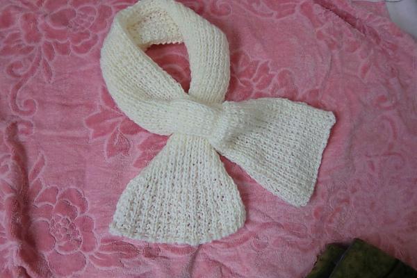 幾經思考編出的圍巾