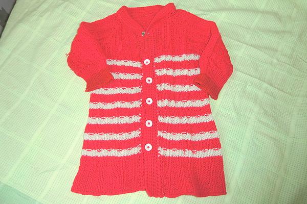 紅白相間可愛的小外套