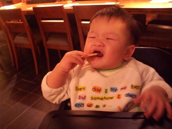 玉米筍被弟弟吃掉了
