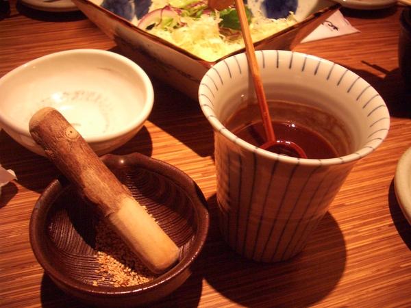 山葵棒和豬排醬汁