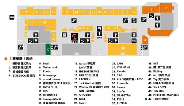 台北買保養品-樓層平面圖