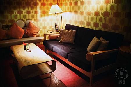 舒適的沙發區