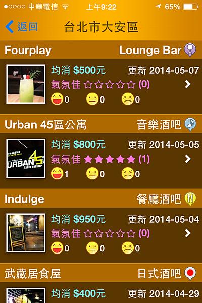 《i98愛酒吧》App 地區搜尋2
