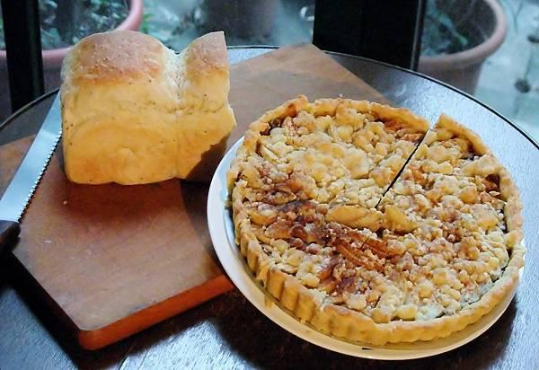 老麵手工麵包,肉桂蘋果派