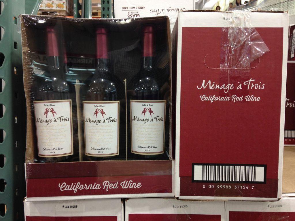 【好市多】MENAGE A TROIS 紅葡萄酒(劈腿酒)【折價】
