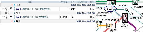 (私鐵)淺草-曳舟-押上晴空塔