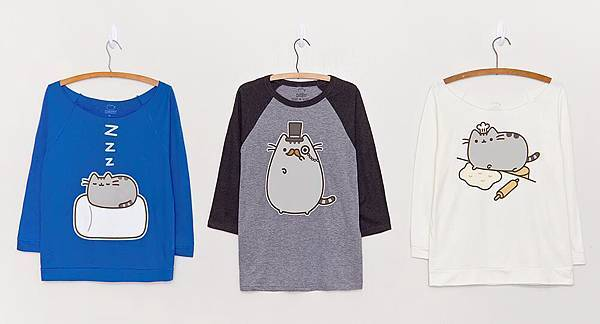 pusheen clothes (from official page on Facebook)