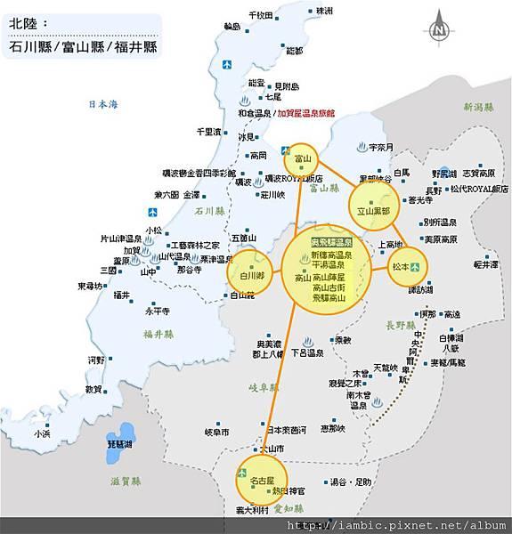 北陸路線地圖