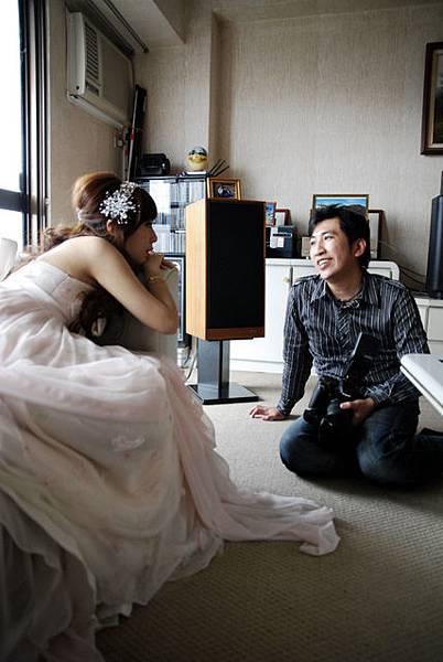 Nemo說從來沒看過這麼悠閒的新娘XD