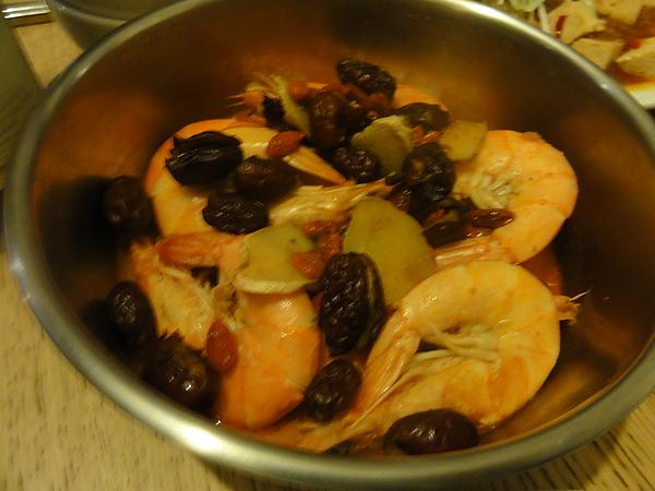 麻油燒明蝦