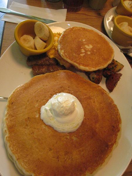 周末@The Diner_巨無霸美式鬆餅早餐