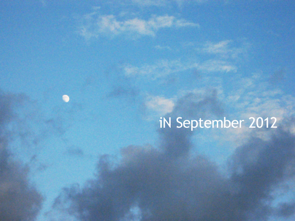September-moon in the day