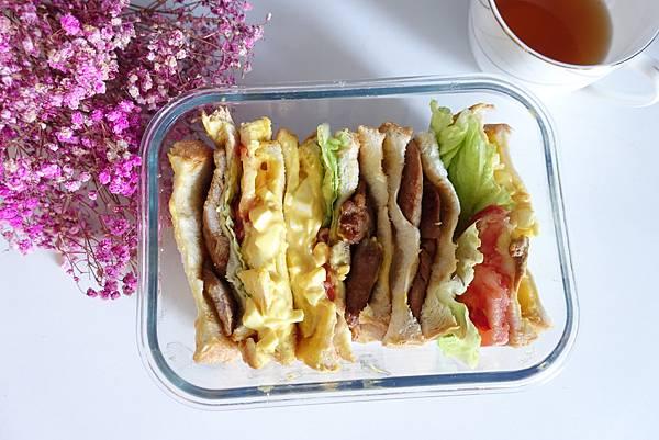 豬排起司芥末醬三明治 野餐去囉!