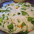 菠菜地瓜麵包(麵糰完成)