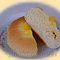 香橙卡士達麵包--切面