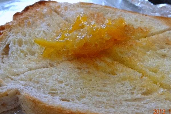 柑橙奶油烤土司