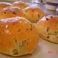 菠菜地瓜麵包(第一盤)
