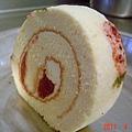 小草莓蛋糕捲with草莓醬檸檬奶油乳酪餡5
